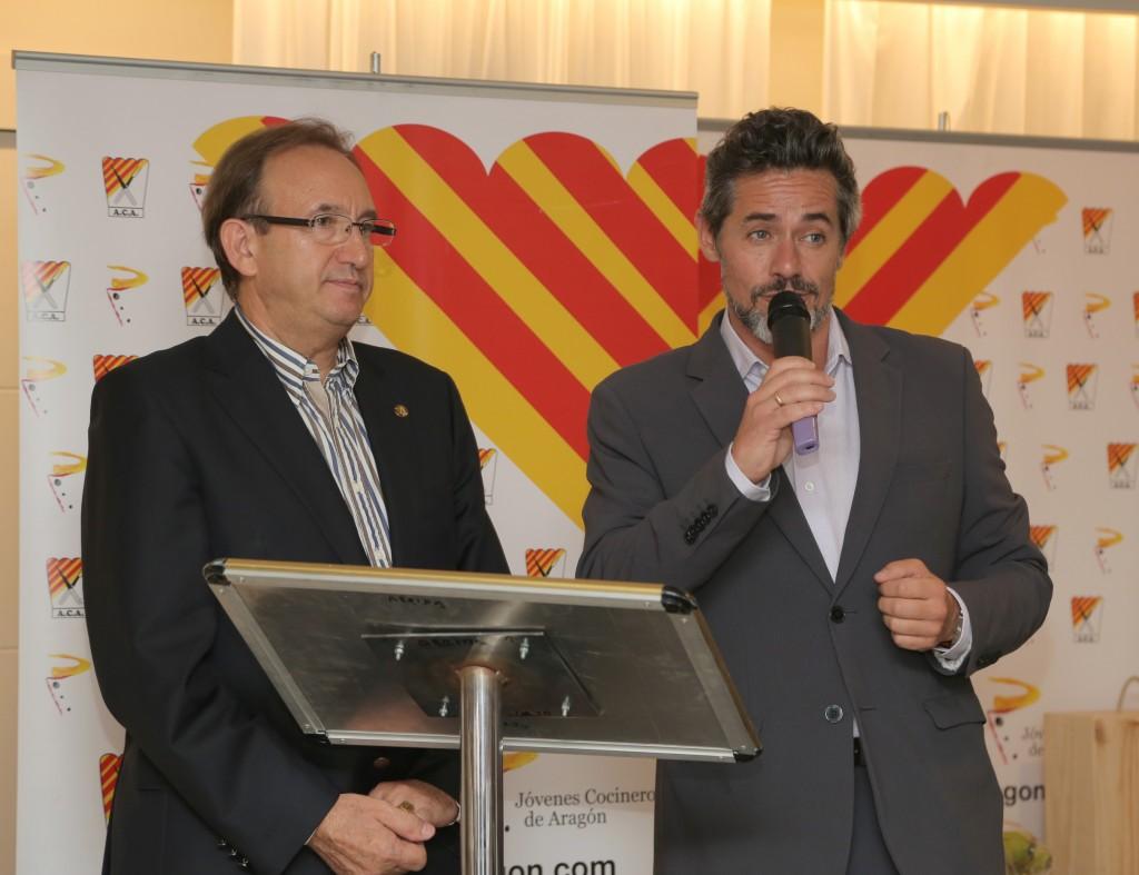 presentación de la gala, Asociación Cocineros de Aragón