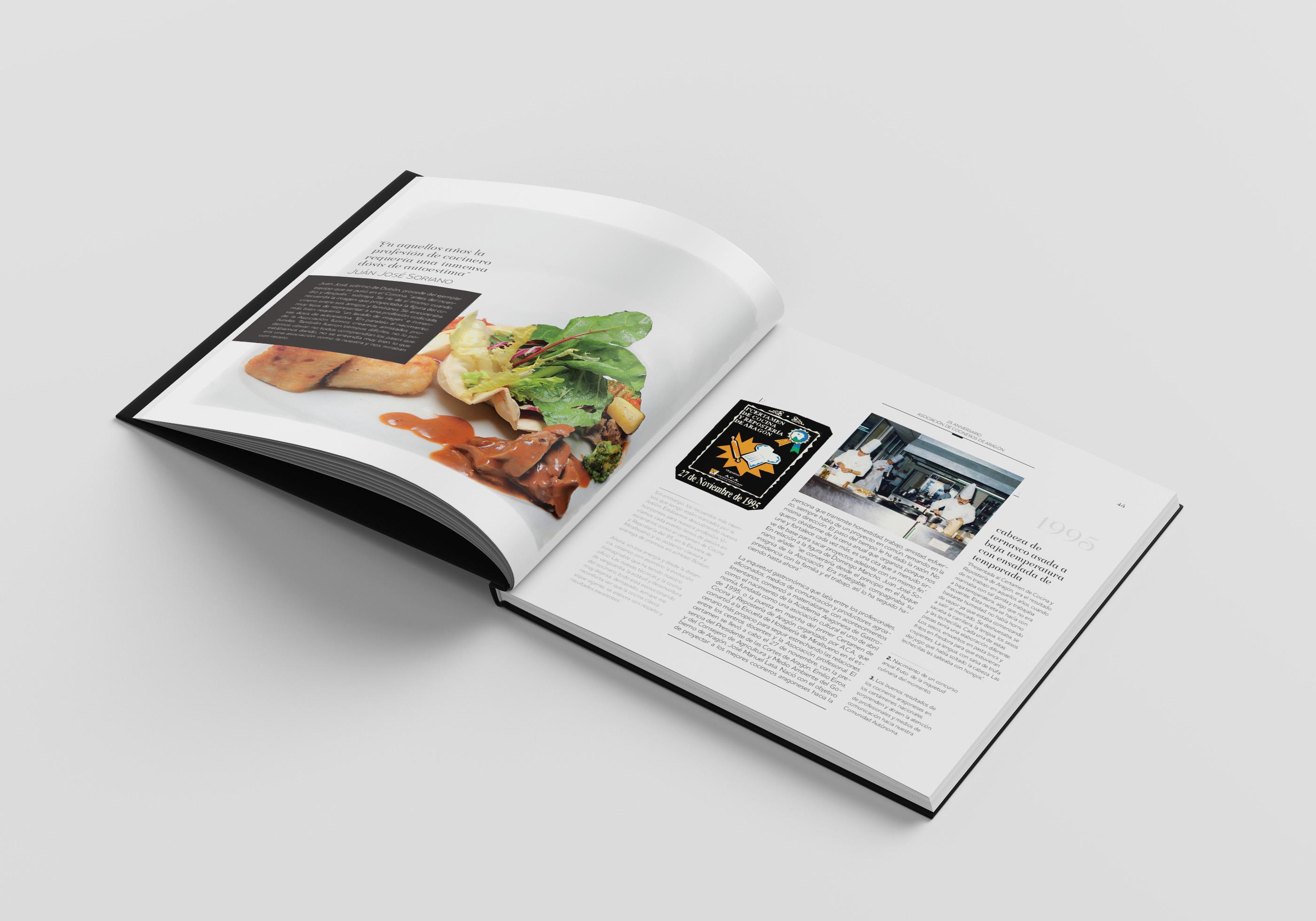 Libro 25 años apasionados por el arte de cocinar